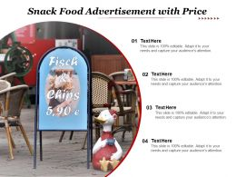 Snack Food Advertisement With Price