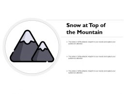 Snow At Top Of The Mountain