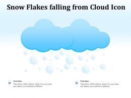 Snow Flakes Falling From Cloud Icon
