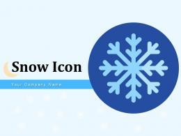 Snow Icon Thunder Circle Representing Window Outside