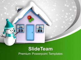 snowman_and_house_covered_with_snow_powerpoint_templates_ppt_themes_and_graphics_0113_Slide01