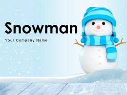 Snowman Building Making Decoration Mountains Multiple Dangling