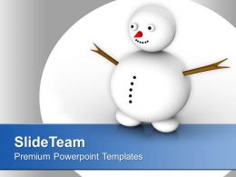 Snowman Celebration Happiness Winter PowerPoint Templates PPT Themes And Graphics 0113