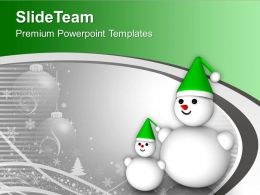 Snowman Christmas Background Holiday PowerPoint Templates PPT Themes And Graphics 0113