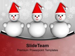 Snowman Christmas Cartoon Character Powerpoint Templates Ppt Themes And Graphics 0113