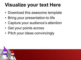 Snowman In Purple And Red PowerPoint Templates PPT Themes And Graphics 0113