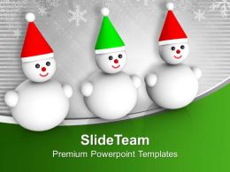 Snowman Object Shape X-max PowerPoint Templates PPT Themes And Graphics 0113