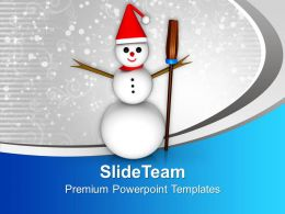 snowman_with_broom_on_winter_background_holidays_powerpoint_templates_ppt_themes_and_graphics_Slide01