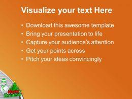 Snowman With Christmas Tree Abstract PowerPoint Templates PPT Themes And Graphics 0113