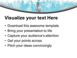 Snowman With Hat Standing Winter Powerpoint Templates Ppt Themes And Graphics 0113
