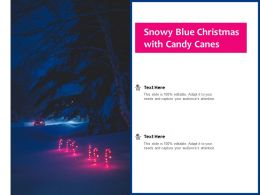 Snowy Blue Christmas With Candy Canes