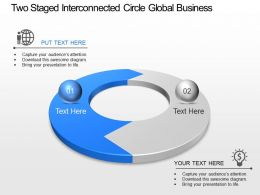 So Two Staged Interconnected Circle Global Business Strategy Powerpoint Template