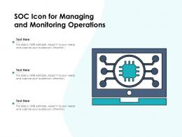 SOC Icon For Managing And Monitoring Operations