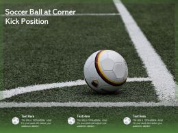 Soccer Ball At Corner Kick Position