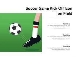 Soccer Game Kick Off Icon On Field