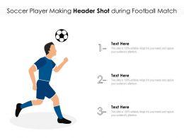 Soccer Player Making Header Shot During Football Match