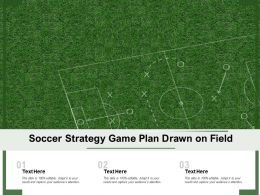 Soccer Strategy Game Plan Drawn On Field