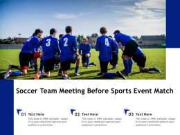 Soccer Team Meeting Before Sports Event Match
