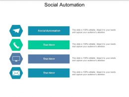 Social Automation Ppt Powerpoint Presentation Ideas Example Cpb