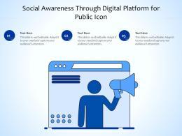 Social Awareness Through Digital Platform For Public Icon