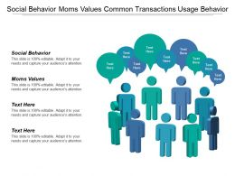Social Behavior Moms Values Common Transactions Usage Behavior