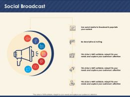 Social Broadcast Descriptive Inviting Ppt Powerpoint Presentation Visual Aids Styles