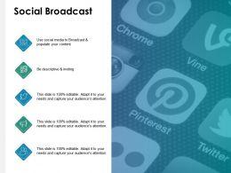 Social Broadcast Descriptive Ppt Powerpoint Presentation File Guide