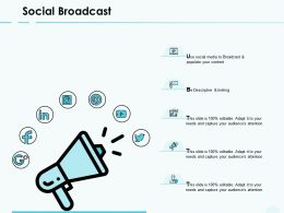 Social Broadcast Finance Technology Ppt Powerpoint Presentation Slides Ideas