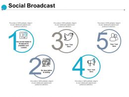 Social Broadcast Populate Content Ppt Powerpoint Presentation Show Brochure