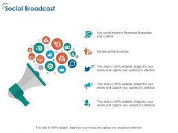 Social Broadcast Technology Gear Ppt Powerpoint Presentation Infographics Inspiration