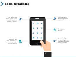 Social Broadcast Technology Ppt Powerpoint Presentation Infographics Microsoft
