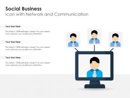Social Business Icon With Network And Communication