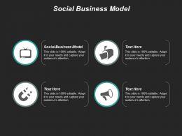 Social Business Model Ppt Powerpoint Presentation File Slide Portrait Cpb