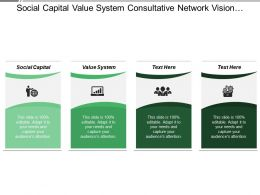 Social Capital Value System Consultative Network Vision Foresight