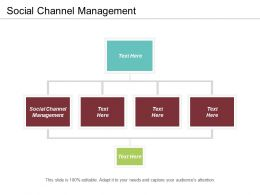 Social Channel Management Ppt Powerpoint Presentation Gallery Example Introduction Cpb