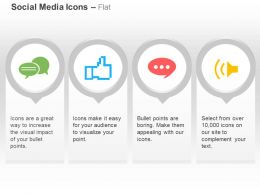 Social Chat Like Video Voice Call Ppt Icons Graphics