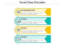Social Class Education Ppt Powerpoint Presentation Model Files Cpb