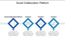 Social Collaboration Platform Ppt Powerpoint Presentation Show Graphics Pictures Cpb