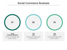 Social Commerce Business Ppt Powerpoint Presentation Model Slides Cpb