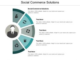 Social Commerce Solutions Ppt Powerpoint Presentation Infographics Format Cpb