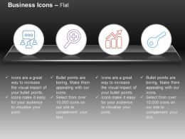 Social Communication Magnifier Bar Graph Key Ppt Icons Graphics