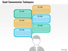 Social Communication Techniquesa Flat Powerpoint Design