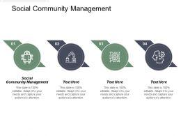 Social Community Management Ppt Powerpoint Presentation Icon Portrait Cpb