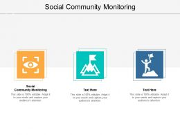 Social Community Monitoring Ppt Powerpoint Presentation Summary Guidelines Cpb