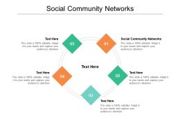 Social Community Networks Ppt Powerpoint Presentation Outline Clipart Cpb