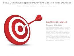 Social Content Development Powerpoint Slides Templates Download