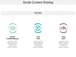 Social Content Sharing Ppt Powerpoint Presentation Infographics Icons Cpb