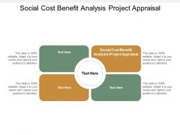 Social Cost Benefit Analysis Project Appraisal Ppt Powerpoint Presentation Model Graphic Cpb
