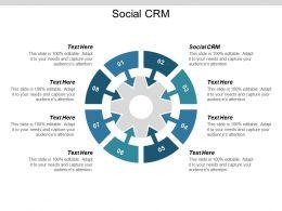 Social CRM Ppt Powerpoint Presentation Show Portfolio Cpb