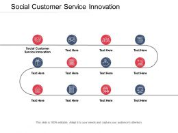 Social Customer Service Innovation Ppt Powerpoint Presentation Portfolio Icons Cpb